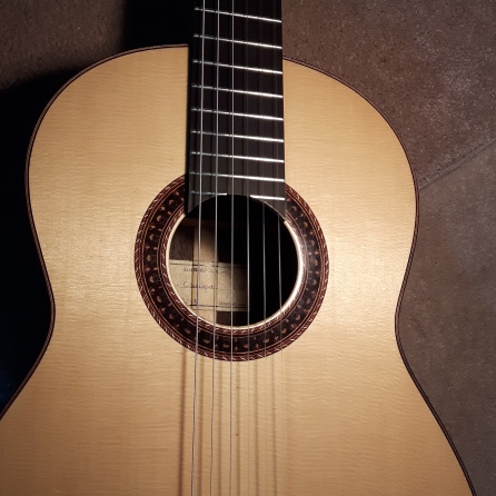 Front of the guitar