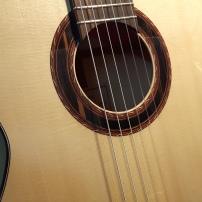 Soundhole details, ebony rosette